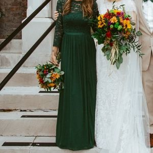 Green formal gown/bridesmaid dress